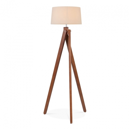 Cult Living Tripod Wooden Floor Lamp - Walnut