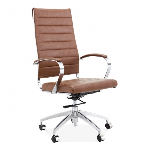 Cult Living Deluxe High Back Office Chair - Coffee