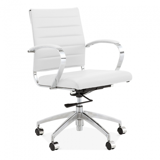 Cult Living Deluxe Office Chair with Short Backrest - White