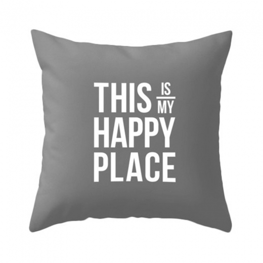 Cult Living This Is My Happy Place Cushion - Grey