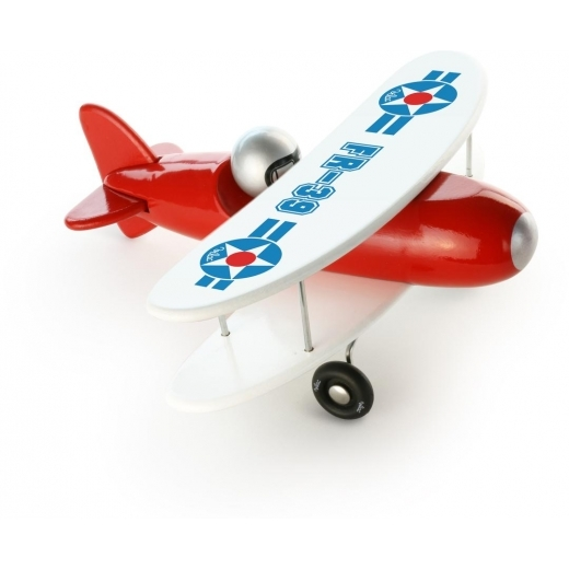 Vilac Wooden Toy Aeroplane - Red