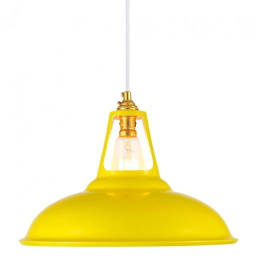 Cult Living Dulwich Industrial Pendant Light - Yellow