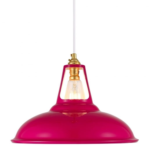 Cult Living Dulwich Industrial Pendant Light - Hot Pink