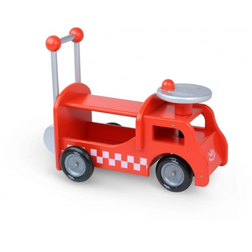 Vilac Ride on Fire Truck - Red