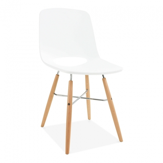 Cult Living Carlsen Dining Chair with DSW Style Legs - White