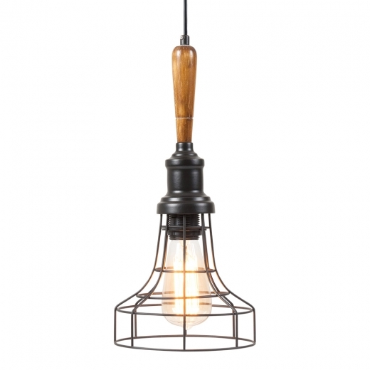 Cult Living Antoine Industrial Pendant Cage Light - Bowl