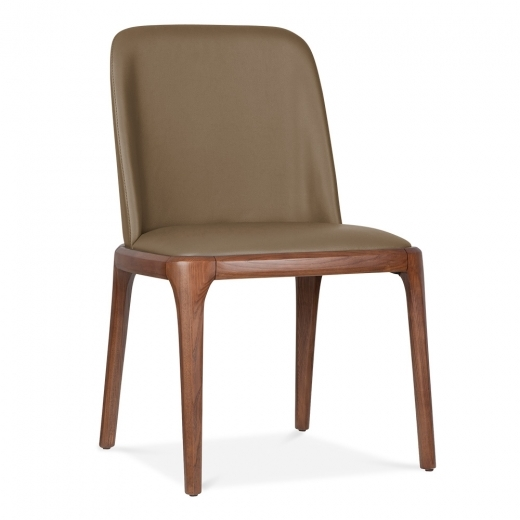 Cult Living Scarlet Dining Chair with Faux Leather Seat - Brown