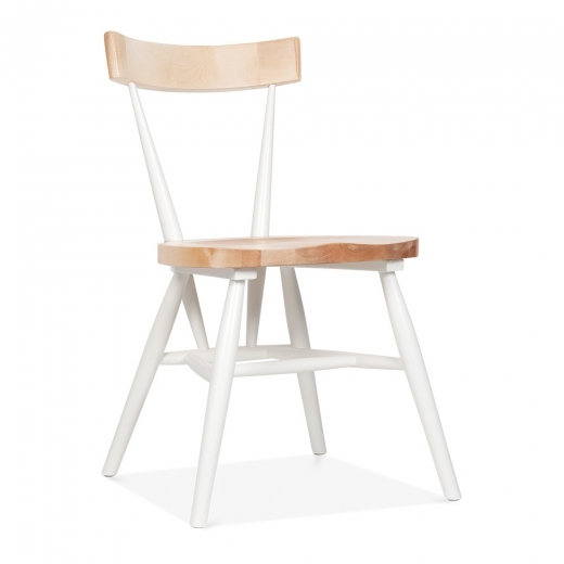 Cult Living Trafik Stackable Dining Chair - White / Natural