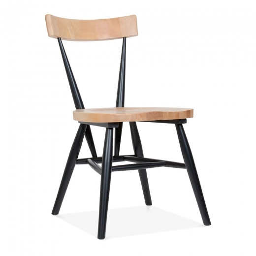 Cult Living Trafik Stackable Dining Chair - Black / Natural