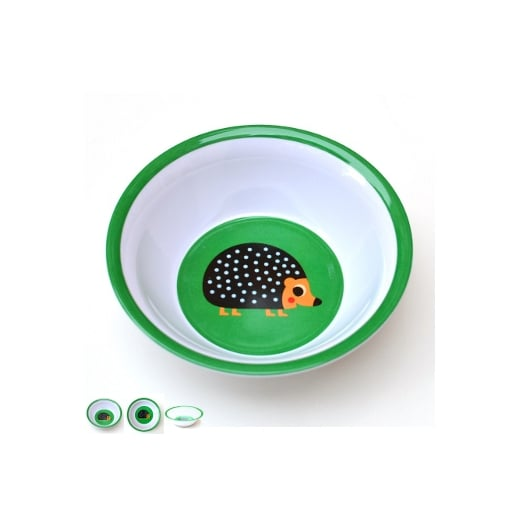 OMM Ingela P Arrhenius Hedgehog Melamine Bowl - Green