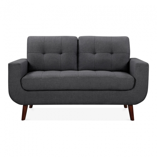Cult Living Sander 2 Seater Small Sofa, Fabric Upholstered, Dark Grey