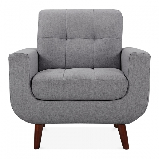 Cult Living Sander Armchair Fabric Upholstered, Grey