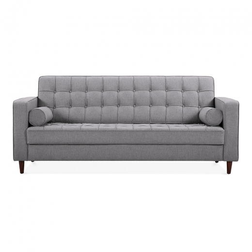 Cult Living Clifford 3 Seater Sofa, Fabric Upholstered, Grey
