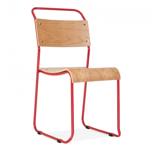 Cult Living Bauhaus Stackable Chair - Red