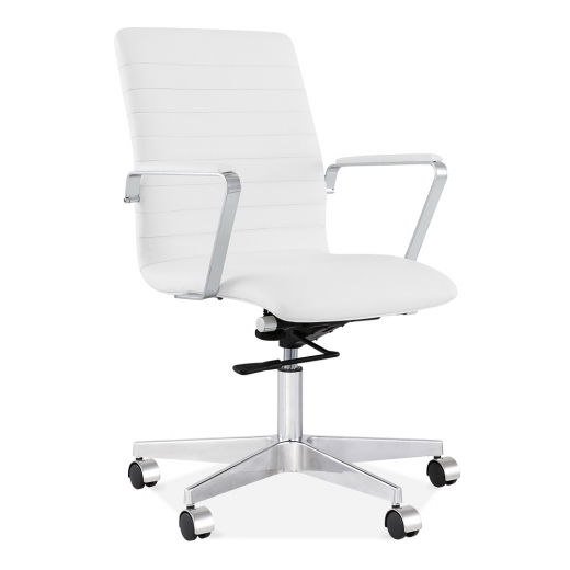 Cult Living Barclay Office Chair with Ribbed Back - White