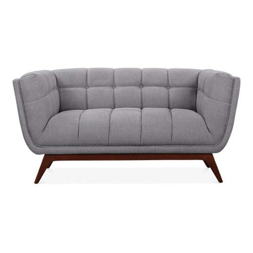 Cult Living Magnus 2 Seater Loveseat Sofa, Fabric Upholstered, Grey