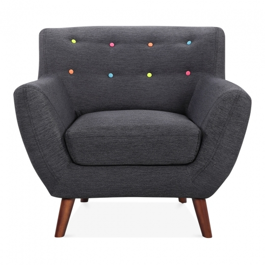 Cult Living Trent Armchair, Fabric Upholstered, Dark Grey