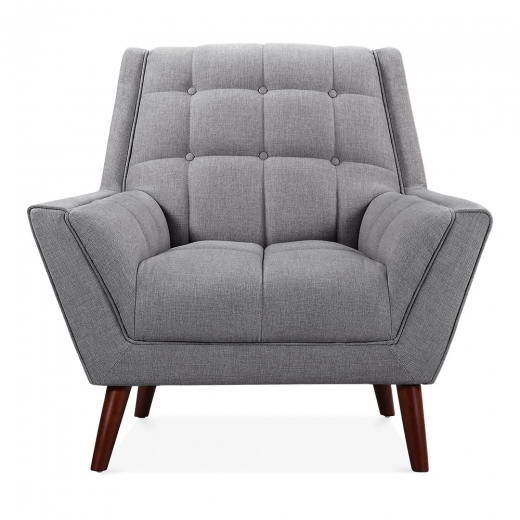 Cult Living Quincy Armchair, Fabric Upholstered, Grey