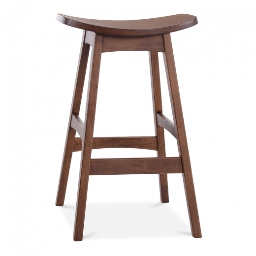 Cult Living Saddle Stool - Walnut / Walnut Seat 75cm