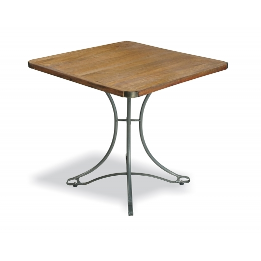 Industrial Living Square Cafe Table, Mango Wood and Steel