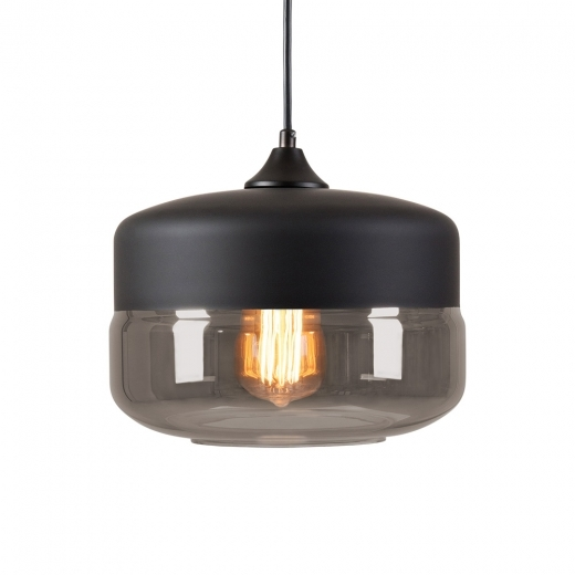 Cult Living Primo Bowl Pendant Light - Black / Black Transparent - Clearance Sale