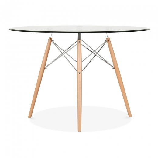 Iconic Designs DSW Glass Dining Table - 110cm Diameter