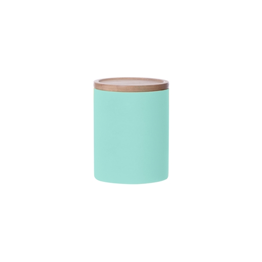 Present Time Large Neon Kitchen Canister, Turquoise