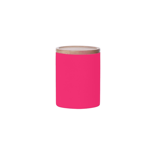 Present Time Large Neon Kitchen Canister - Pink