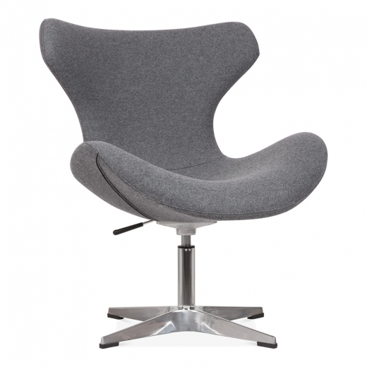 Cult Living Vegas Lounge Chair with Aluminium Leg - Grey
