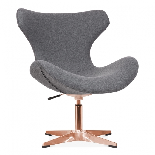 Cult Living Vegas Lounge Chair With Aluminium Leg - Grey / Copper