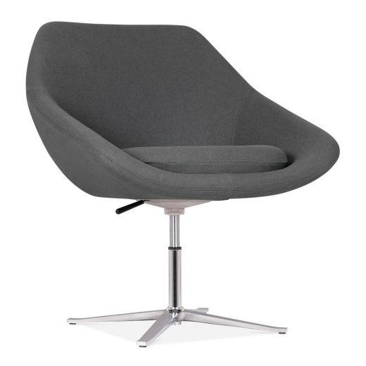 Cult Living Melody Lounge Chair With Aluminium Leg - Dark Grey