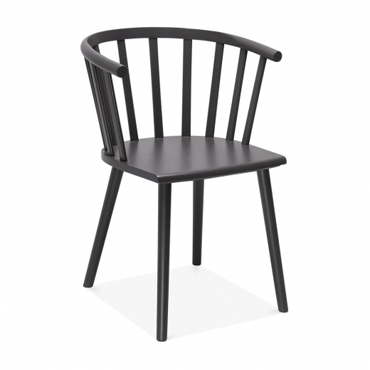 Cult Living Busket W. Style Wooden Dining Armchair - Dark Grey - Clearance Sale