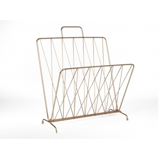 Present Time Diamond Raster Magazine Rack - Copper