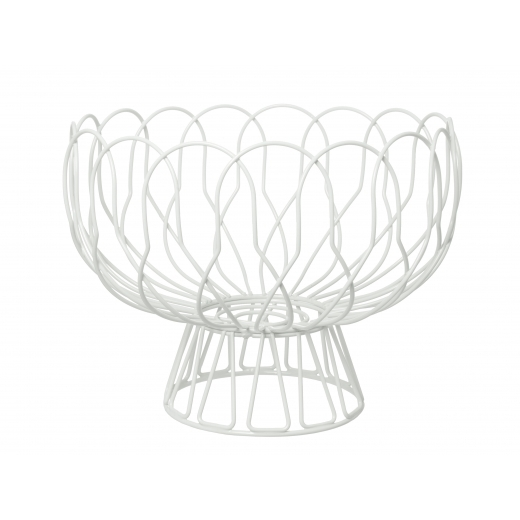 Present Time Wire Fruit Bowl - White