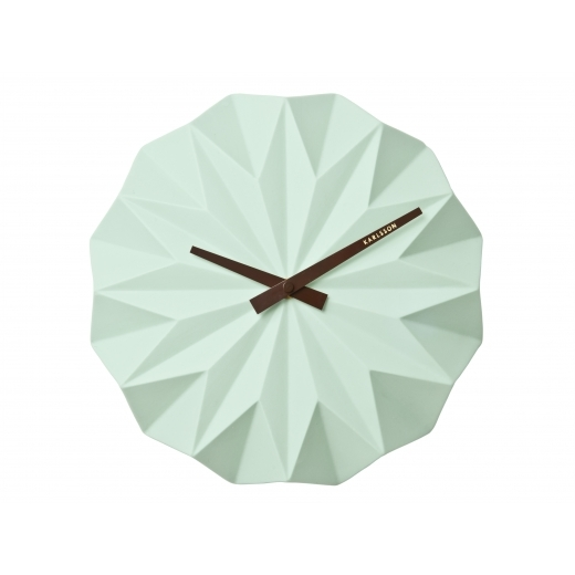 Present Time Origami Style Ceramic Wall Clock - Turquoise
