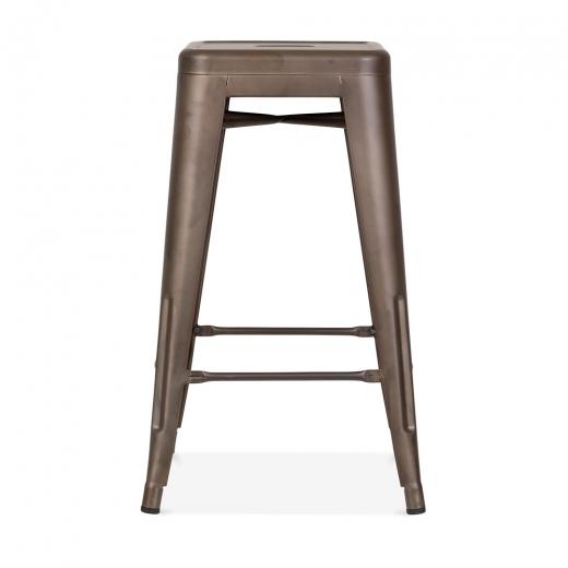 Rustic 65cm tolix style stool restaurant stools cult uk - Tolix marais barstool ...