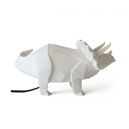 Disaster Designs Geometric LED Triceratops Lamp - White