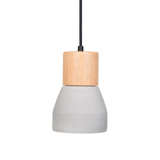 Cult Living Laval Ceramic and Wood Pendant Light, Light Grey
