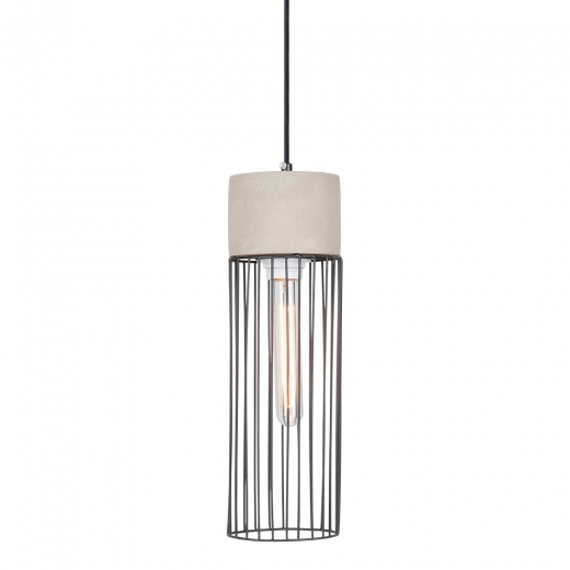 Cult Living Greyson Concrete and Cage Pendant Light - Cylinder