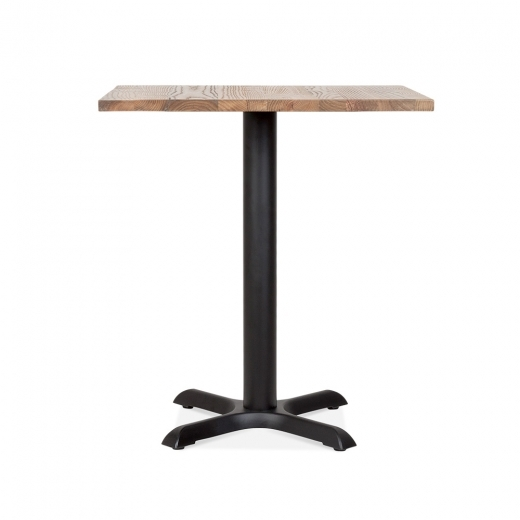 Cult Living Galant Square Cafe Table - Black / Natural Finish 70cm