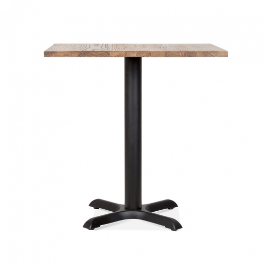 Cult Living Galant Square Cafe Table - Black / Natural Finish 80cm