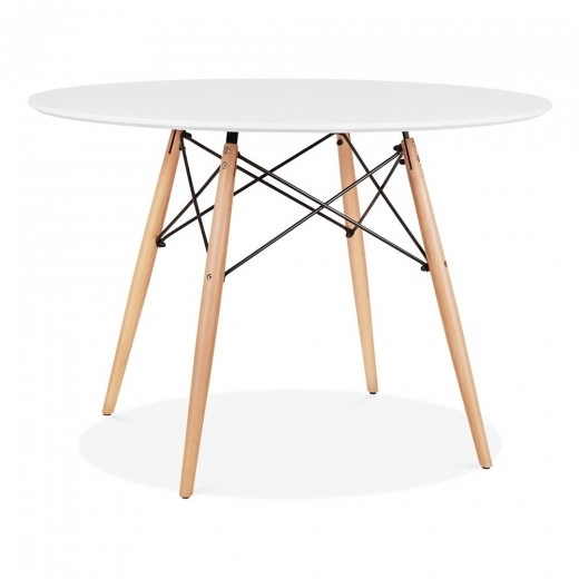 Cult Living DSW Round Dining Table with Leg Option - White 110cm
