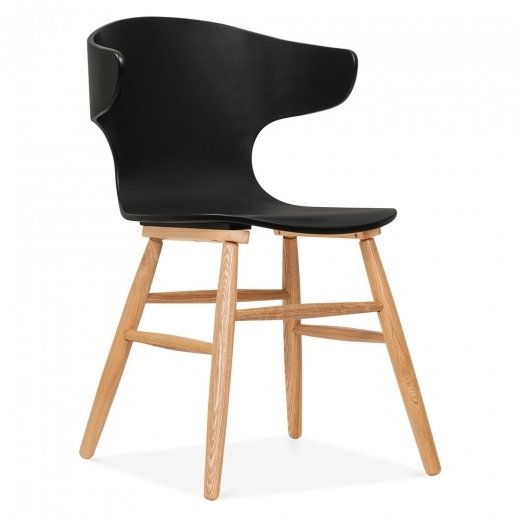 Cult Living Elin Curved Back Dining Chair - Black - Clearance Sale