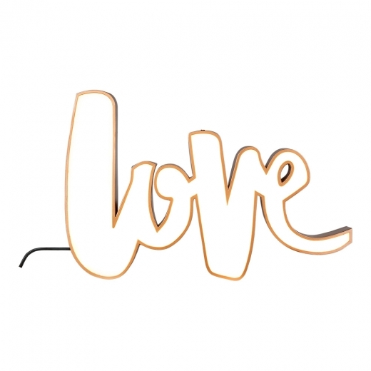 Cult Living Love Metal Light Box - Copper