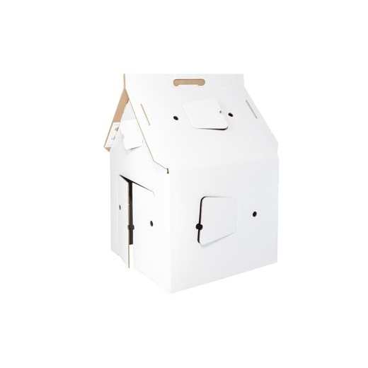 Studio Roof Cardboard Casa Cabana Play House - White