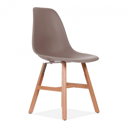Eames Inspired DSW Side Chair With Windsor Style Legs – Warm Grey