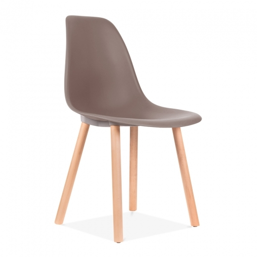 Eames Inspired Copenhagen Dining Chair - Warm Grey