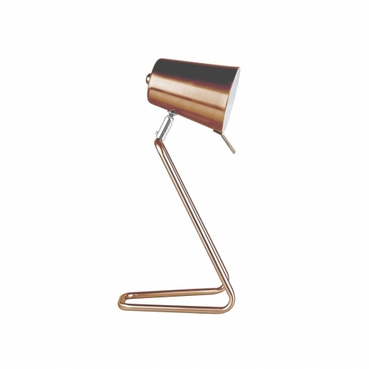 Present Time Z Style Metal Table Lamp - Copper