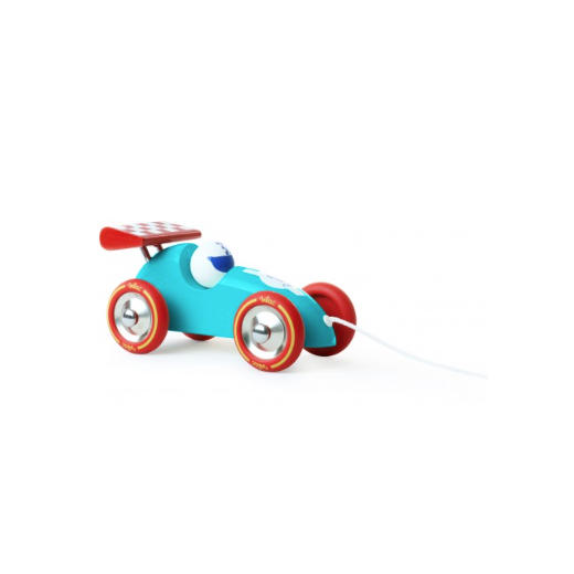 Vilac Pull Along Racing Car - Turquoise