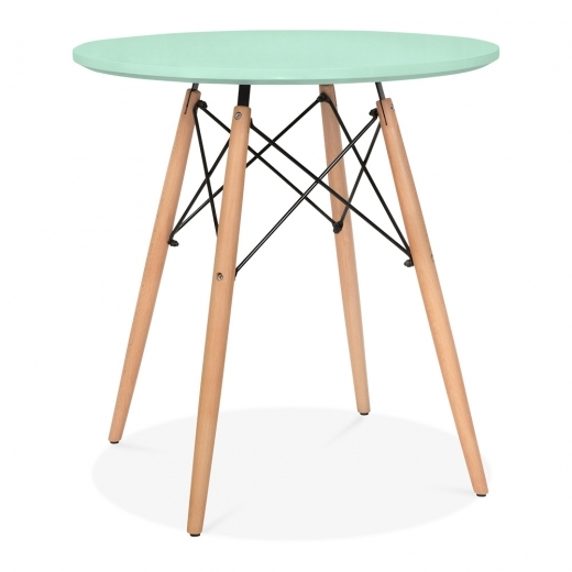 Iconic Designs Peppermint DSW Dining Round Table - Diameter 70cm